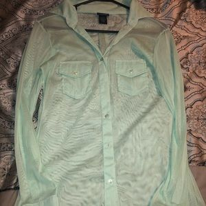 Sheer button up long sleeve!